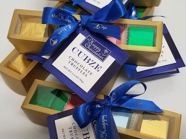 cubed truffle, cubze, hostess gift, chocolate, gift box
