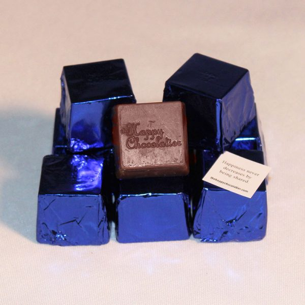 milk chocolate, cookie, white chocolate, cubed truffle, cubze, blue